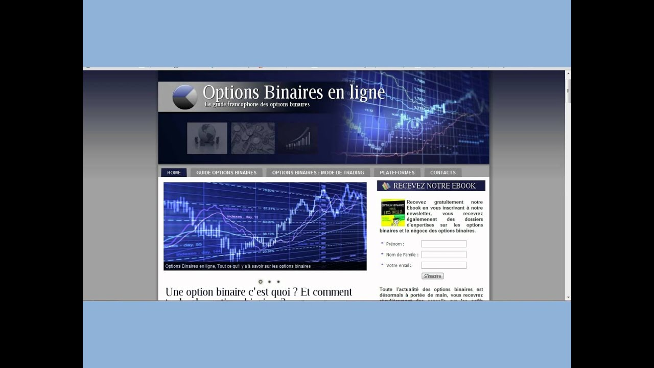 Options Binaires Guide – Options binaires : un formidable outil de trading