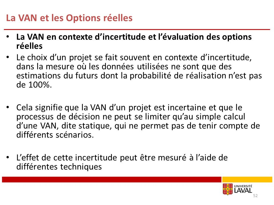 L'analyse par les Options Réelles | SmartMetrics
