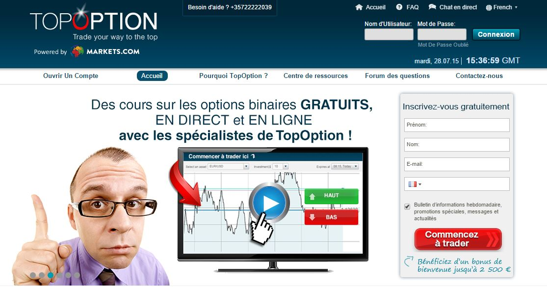 nos options binaires de plateforme
