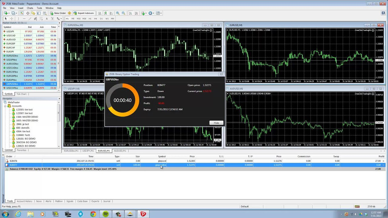 options binaires via metatrader 4